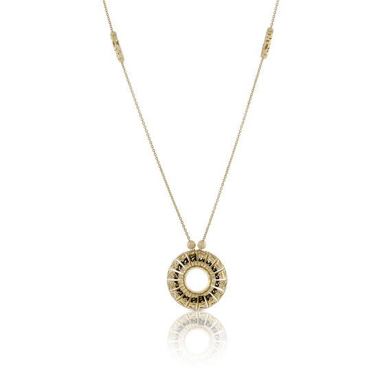 Toscano San Marco Open Circle Necklace 18K
