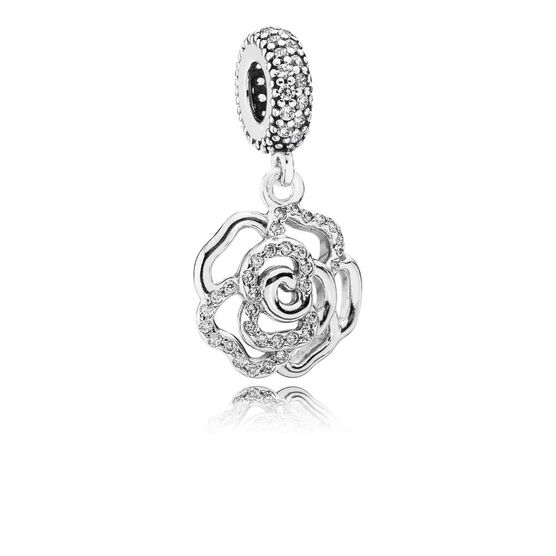 PANDORA Shimmering Rose Dangle Charm
