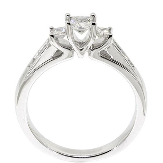 Princess Cut Diamond Ring 14K