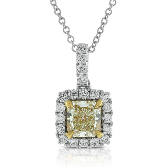 Yellow Diamond Pendant 18K