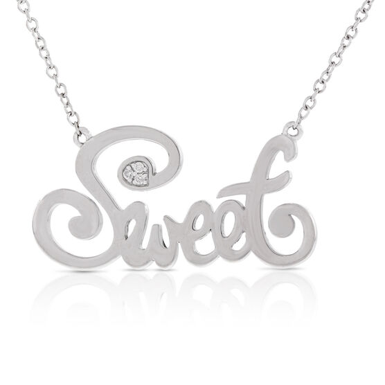 Sweet Diamond Necklace in Sterling Silver