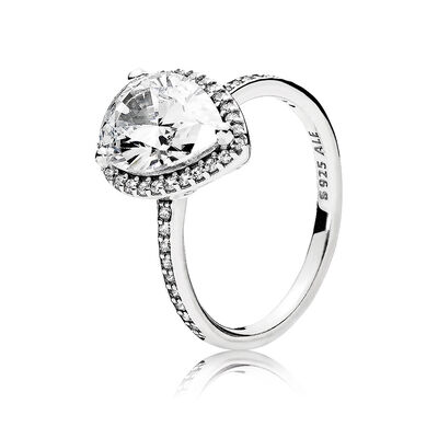 pandora radiant teardrop cz ring - Pandora Wedding Rings