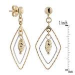 Open Marquise Dangle Earrings 14K Gold