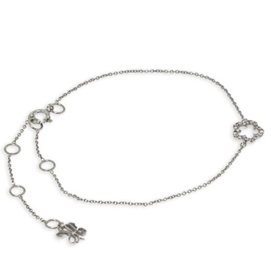 Tiny Flower Diamond Bracelet 14K