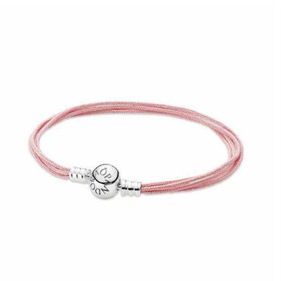 "PANDORA Soft Pink Cord Bracelet, 7.5"" RETIRED"