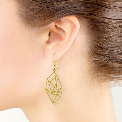 Geometric Earrings 14K
