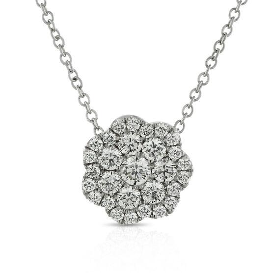 Floral Cluster Diamond Pendant, 1/2 ctw.14K