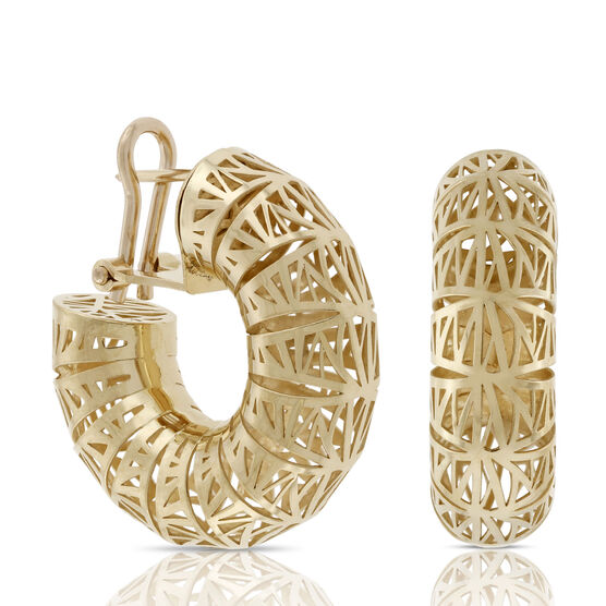 Toscano Collection San Marco Hoop Earrings 18K