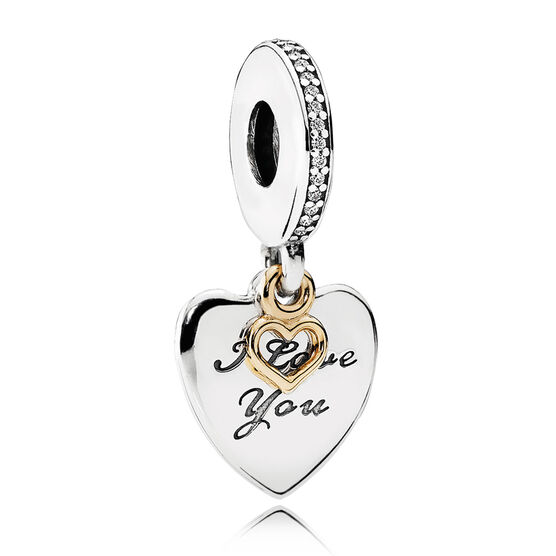 Pandora love you forever cz charm silver 14k 792042cz for How much does pandora jewelry pay