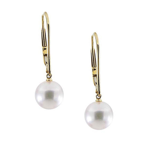Mikimoto Akoya Cultured Drop Pearl Earrings, 7mm, 18K