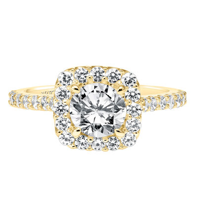 ArtCarved Lenore Diamond Semi-Mount Ring 14K