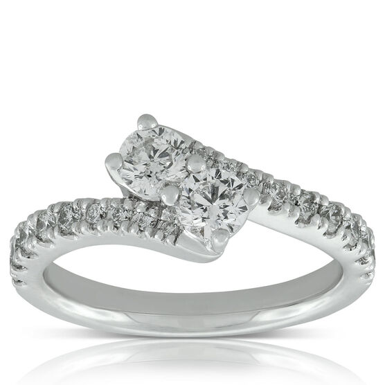 Perfectly Paired Diamond Ring, 14K, .95 CTW