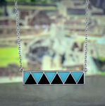 Lisa Bridge Turquoise &  Black Onyx Bar Necklace