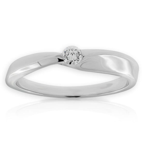 Petite Diamond Ring 14K