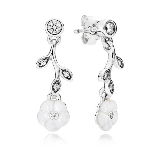 PANDORA Luminous Floral Dangle Earrings