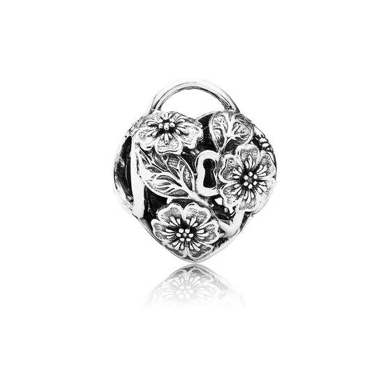 PANDORA Floral Heart Padlock Charm