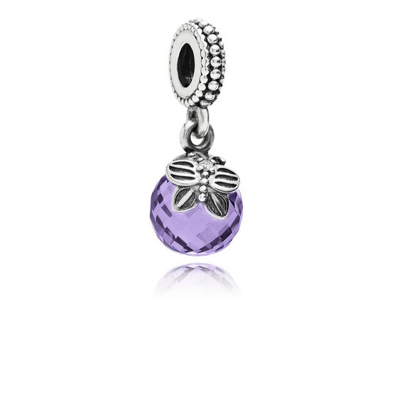 PANDORA Morning Butterfly Purple CZ Dangle