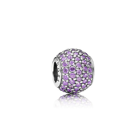 PANDORA Purple Pavé Lights Charm