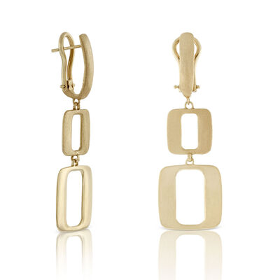 Toscano Collection Open Geometric Drop Earrings 18K