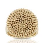 Toscano Beaded Dome Ring 18K