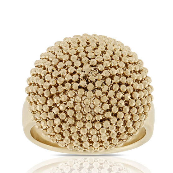 Toscano Beaded Dome Ring 18K