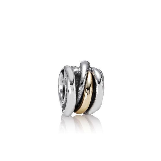 PANDORA Ring Cluster Charm, Silver & 14K