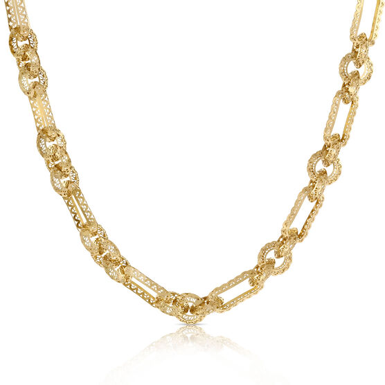 Toscano Openwork Link Necklace 14K