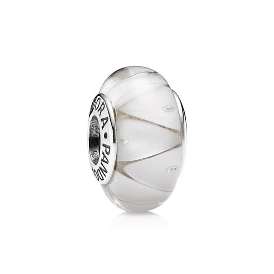 PANDORA White Looking Glass Charm