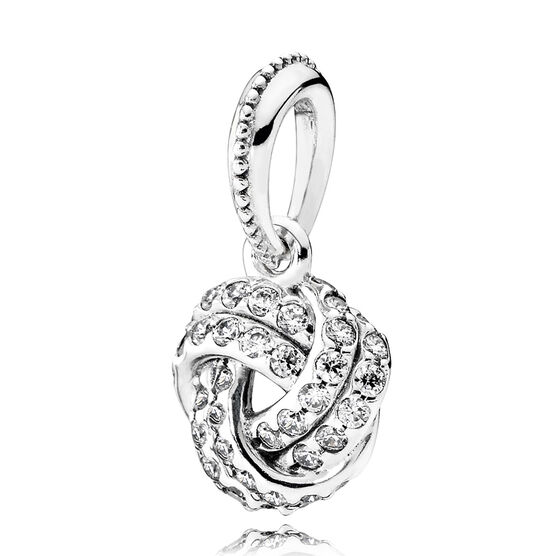 PANDORA Love Knots Sparkling CZ Pendant