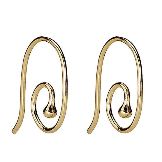 PANDORA Smooth Medium Earring Post Earrings 14K RETIRED