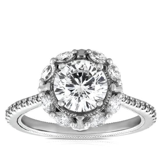 Signature Forevermark Diamond Engagement Ring 18K, 1.55 Center