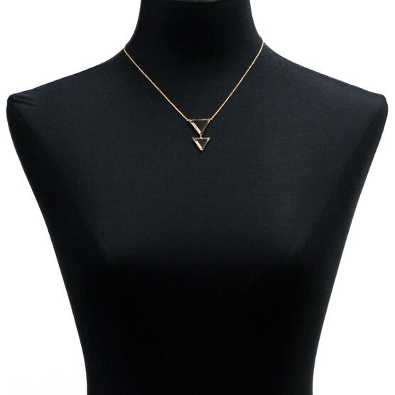 Lisa Bridge Double Triangle Smoky Quartz Necklace 14K
