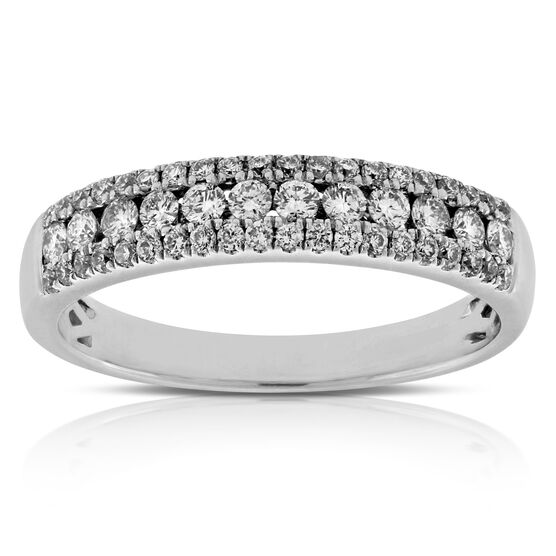 Triple Row Diamond Band 14K