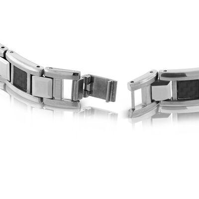 Black Carbon Fiber Bracelet