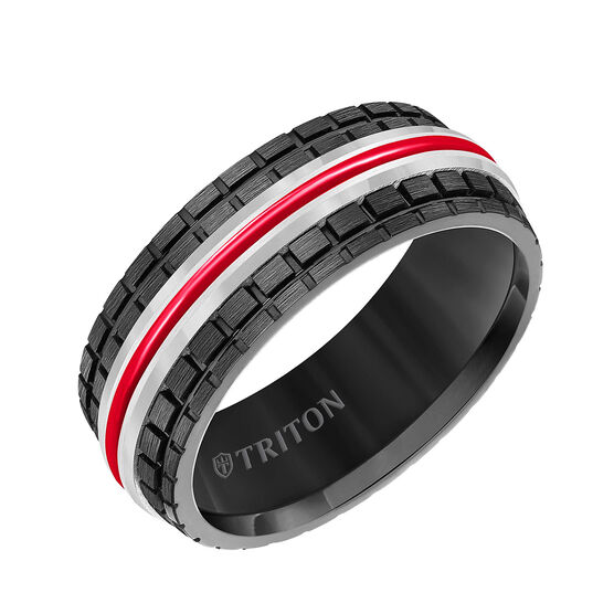 TRITON Red & White Tungsten Band