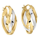 Toscano Hoop Earrings 14K