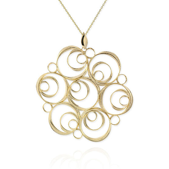 Toscano Collection Spiral Medallion 14K