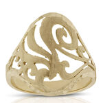Toscano Satin Finish Filigree Ring 18K