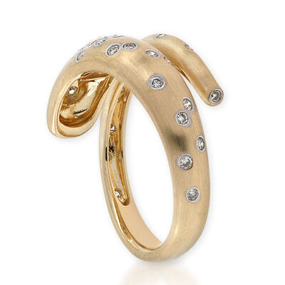 Whitney Stern Diamond Ring 14K, Size 7