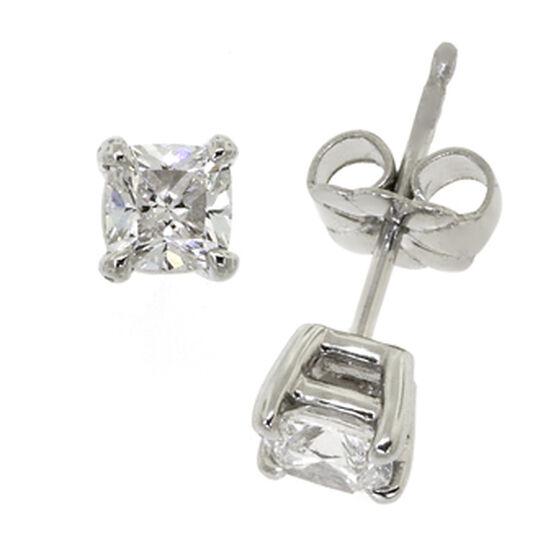 Ben Bridge Signature Diamond™ Cushion Cut Earrings in Platinum, 3/4 ctw.