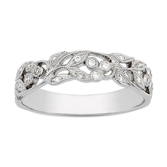 Floral Diamond Band 14K