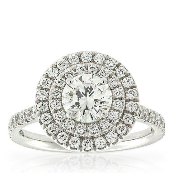 Signature Forevermark Diamond Double Halo Ring 18K