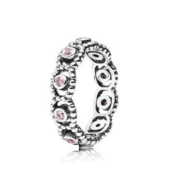 PANDORA Her Majesty Pink CZ Ring
