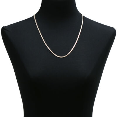 Diamond Cut Curb Necklace 14K