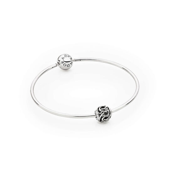 PANDORA ESSENCE Bangle Bracelet with FRIENDSHIP Charm