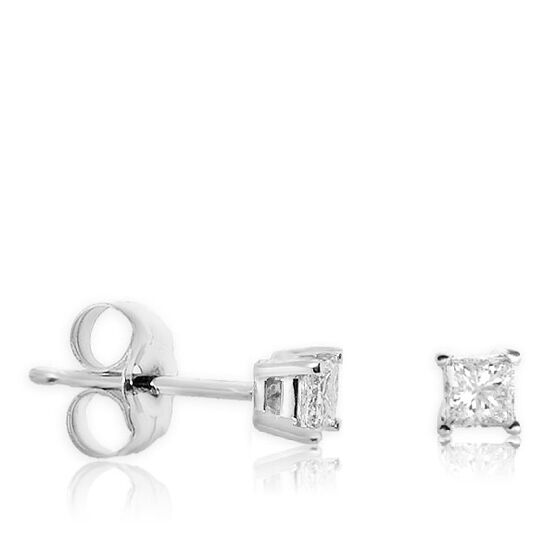 Diamond Earrings 14K, 1/4 ctw.