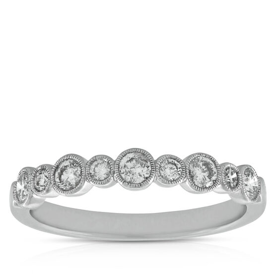 Bezel Set Diamond Band, 3/8 ctw. 14K