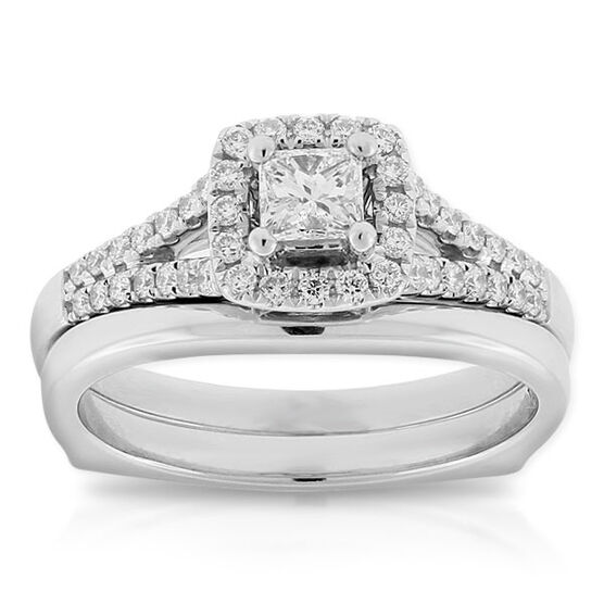 Ikuma Canadian Diamond Princess Cut Bridal Set 14K
