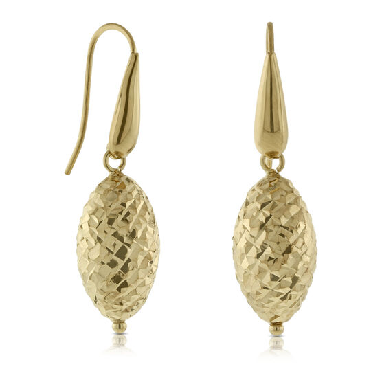 Teardrop Bead Earrings 14K