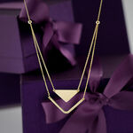 Chevron & Triangle Duet Necklace 14K